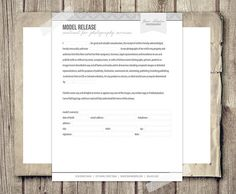 Client Agreement Form For Photographers By Studiotwentynine