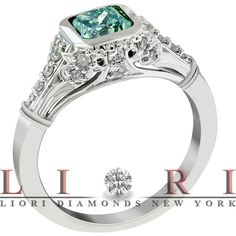 Fancy Light Blue Diamond Engagement Rings and More     www.lioridiamonds.com