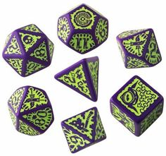 Pathfinder Goblin Purple & Green Dice Set Now Available!