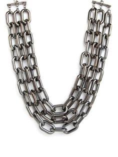 Triple Hematite Collar Necklace + Nina Garcia   Bauble Bar