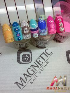 Acrilico, Nail Art, Magnetic Nails, Maga Nails, Albina Maria.