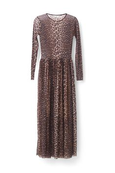 Ganni New Arrivals | Olivet Mesh Maxi Dress, Leopard