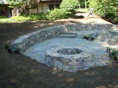 Ossipee Mt Stone with Irregular Bluestone patio