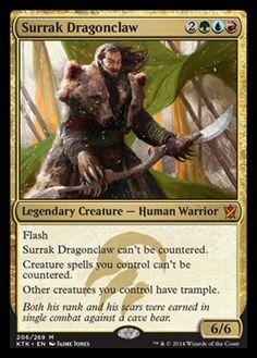 KHANS OF TARKIR  - Surrak Dragon Claw, bear punching badass!