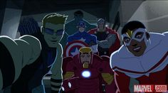 The team united in Marvel's Avengers Assemble