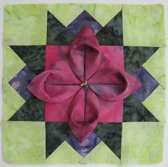 Folded flower block
