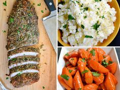 Nothing says fall like pork recipes. This can be what's for dinner tonight. Herb Roasted Pork Dinner