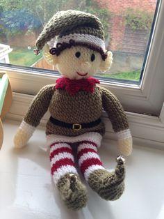 My elf knitted from Zoe Halstead - Bernard the Christmas ...