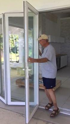 House Window Design, House Gate Design, Door Gate Design, Door Design Interior, Home Room Design, Modern House Design, Sliding Door Design, Sliding Glass Door, Folding Patio Doors