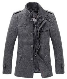 Looking for chouyatou Men's Stand Collar Wool-Blend Classic Pea Coat Removable Inner Collar ? Check out our picks for the chouyatou Men's Stand Collar Wool-Blend Classic Pea Coat Removable Inner Collar from the popular stores - all in one. Fashion Mode, Fashion Night, Mens Fashion, Fashion Shirts, Fashion Menswear, Bold Fashion, Fashion Wear, Asian Fashion, Winter Coats On Sale