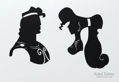 Hercules: Megara and Hercules Disney Silhouettes by Isabel Talsma Disney Pixar, Disney Rapunzel, Disney Amor, Deco Disney, Art Disney, Disney Kunst, Disney Crafts, Disney Love, Disney Magic