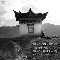 박노해의 걷는 독서 우리 삶은 사람을 상대하기보다 | 시 우리 삶은 사람을 상대하기보다하늘을 상대로 하는 것우리 일은 세상의 빛을 보기보다내 안의 빛을 찾는 것- 박노해, '참사람이 사는 법', 『그러니 그대 사라지지 말아라』Tibet, 2012. 사진 박노해손해 보더라도 착하게친절하게 살자상처받더라도 정직하게마음을 열고 살자좀 뒤처지더라도 서로 돕고함께 나누며 살자우리 삶은 사람을 상대하기보다하늘을 상대로 하는 것우리 일은 세상의 빛을 보기보다내 안의 빛을 찾는 것- 박노해, '참사람이 사는 법', 『그러니 그대 사라지지 말아라』* 매일 아침 박노해 시인의 사진과 경구를 만날 수 있는<박노해의 걷는 독서>와 하루의 시작을 함께 하세요페이스북 바로가기이 게시물을