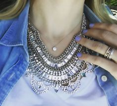 ShopDesignSpark, Crystal Bib Necklace