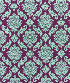 Joel Dewberry Damask Plum Fabric - $8.9 | onlinefabricstore.net -- for bedskirt