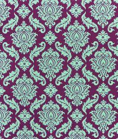 Joel Dewberry Damask Plum Fabric - $8.9 | onlinefabricstore.net -- for bedskirt