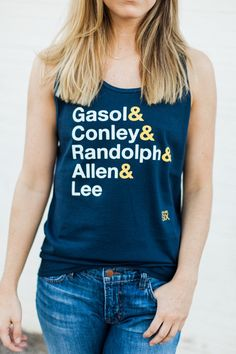 Memphis Grizzlies Players Tank by GiveHerSix on Etsy