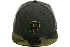 New Era 2Tone Pittsburgh Pirates Fitted Hat - Flannel, Camo, Gold