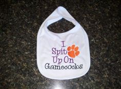 Clemson Tigers Baby ,Baby Bib by CraftyInCarolina on Etsy
