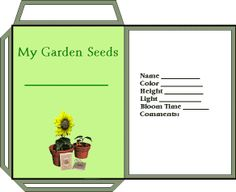 FREE Printable Garden Seed Packets