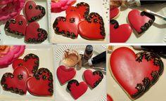 beautiful heart shaped cookies