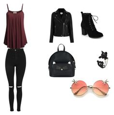 """primer outfit"" by paulinaandrea on Polyvore featuring moda, Journee Collection, Accessorize y Topshop"
