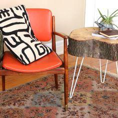 Make rustic modern end tables.