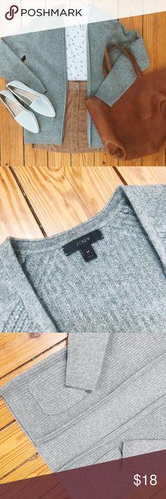 JCREW Size M Grey Open Cardigan JCREW Size M Grey Open Cardigan // J. Crew Sweaters Cardigans