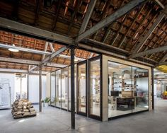 Enclosed Work Space within Converted Factory Residence: