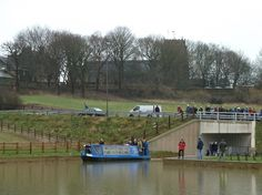 John Varley enters the new Staveley Town Basin