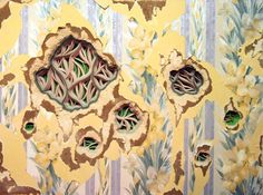 Delicate Paper Installations Using Drywall and Wallpaper – Fubiz Media