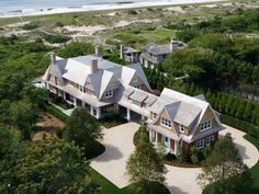 17. At 8,000 square feet (and eight bedrooms), here's an East Hampton traditional mansion that will fit any Gatbsy-like notions of stately East Coast elegance. There's a tennis court, seaside infinity pool, and beachfront bungalow, too.