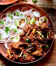 Pakistani Bhuna Gosht is a mutton preparation very popular in Pakistan. Mutton pieces slow cooked in whole spices and chopped onion, ginger garlic is later fried (bhuna) with lots of ghee and garnished with coriander. Pakistani Bhuna Gosht is one such succulent dish that is best enjoyed with Rumali Roti or Naan. The mutton pieces when cooked slowly with whole spices, leaves an aromatic flavor and extremely juicy mutton that makes you crave for more. Normally Bhuna Gosht is prepared with mince... Lamb Recipes, Veg Recipes, Curry Recipes, Indian Food Recipes, Asian Recipes, Chicken Recipes, Cooking Recipes, Ethnic Recipes, Indian Foods