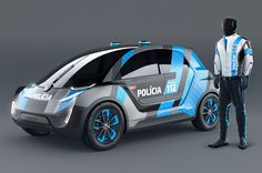 Despite its agro name, the Volkswagen Interceptor is actually a friendlier take on futuristic patrol cars. Compared to other unnecessarily intimidating vehicles, this petit police car