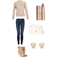 A fashion look from January 2015 featuring J.W. Anderson sweaters, J Brand jeans and Burberry ankle booties. Browse and shop related looks.