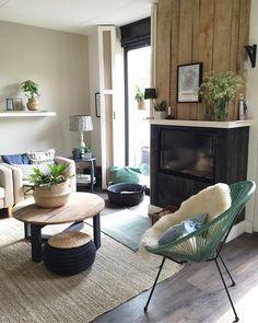 Binnenkijken bij mijnhuis__enzo Interior Inspiration, Family Room, Sweet Home, Industrial, Indoor, Interior Design, Table, House, Furniture
