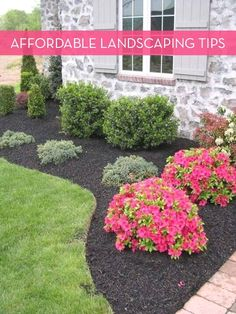 Ten incredibly simple ways to save money on landscaping. Using color effectively, dividing plants, and cleverly repurposing found materials to save cash. #LandscapingIdeas