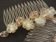 Hair Accessory Wedding/Bridal Combs Glass Heart by ChillOutChic, £9.99