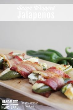 Bacon Wrapped Jalapenos with Cream Cheese Appetizer Recipe www.uncommondesignsonline.com
