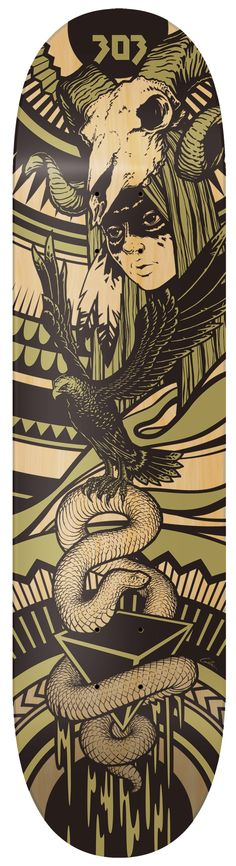 Eagle Mystic Skateboard by Travis Gillan, via Behance