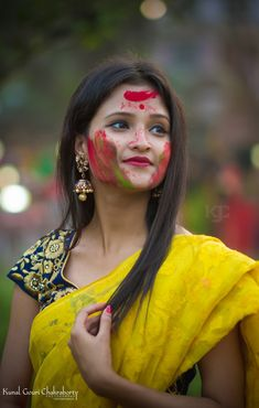 Beautiful Girl Indian, Most Beautiful Indian Actress, Beautiful Girl Image, Beautiful Saree, Beautiful Models, Holi Girls, Holi Colors, India Colors, Holi Pictures
