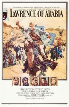 A great poster from the award-winning movie Lawrence of Arabia! Starring Peter O'Toole, Alec Guinness, and Anthony Quinn - epic cinema at its best! Ships fast. 11x17 inches. Need Poster Mounts..?