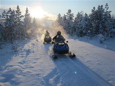 Winter in Vuoddas, Swedish Lapland. http://www.creactive-adventure.se/