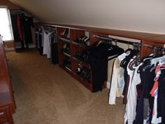 Great Closets with Sloped Ceiling