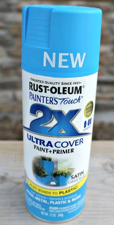 @Rust-oleum Painter's Touch Ultra Cover Paint and Primer. Great for outdoor projects.