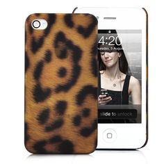 Leopard Skin Pattern  Hard Case Cover for iPhone 4S (Big Dots)