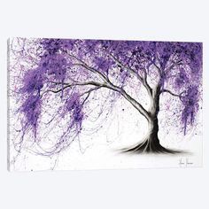 Drawing With Charcoal A large jacaranda tree painting I created with charcoal and acrylics on canvas ready to hang. I ship my art express worldwide for free. Canvas Art Prints, Black And White Tree, Flower Painting, Canvas Prints, Acrylic Artwork, Tree Art, Tree Painting, Artwork, Painted Leaves