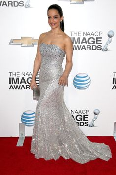 Archie Panjabi-NAACP Awards Red Carpet Photos, Pics - 2013 Arrivals Fashion   Gossip Cop