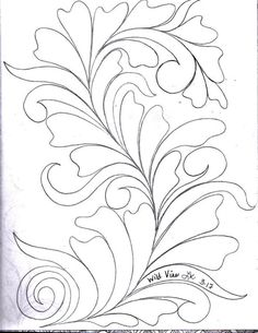 Here's a peek inside my Sketch Book of Quilting Designs. I have been in the mood to draw Wild Vines . Denim Quilt Patterns, Machine Quilting Patterns, Longarm Quilting, Free Motion Quilting, Quilting Designs, Embroidery Designs, Floral Vintage, Whole Cloth Quilts, Quilt Labels