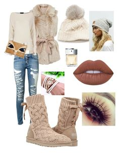 """""""Untitled #44"""" by stacymitchell-sm on Polyvore featuring SIJJL, Hudson, Exclusive for Intermix, UGG Australia, Betsey Johnson, Lime Crime and Michael Kors"""