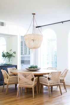 63 Contemporary Dining Room Interior Design Ideas www.futuristarchi… 63 Contemporary Dining Room Interior Design Ideas www. Dining Room Lighting, Dining Room Chairs, Dining Area, Rattan Chairs, Kitchen Dining, Dinning Table, Wood Table, Chandelier Lighting, Small Dining Room Furniture